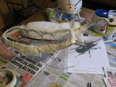 Making a stag beetle